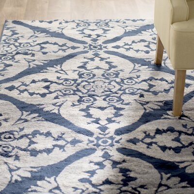 Anzell Blue/Gray Area Rug Rug Size: 710 x 106