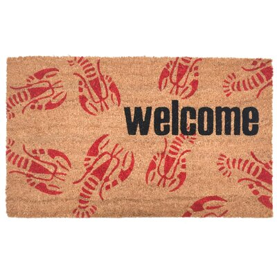 Penfield Welcome Lobster Vinyl Back Coco Doormat