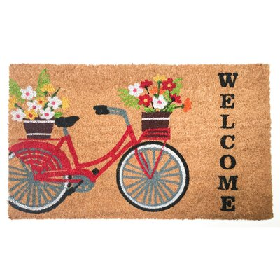 Costin Welcome Bicycle Vinyl Back Coco Doormat