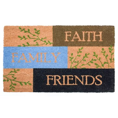 Troxel Faith Family Friends Vinyl Back Coco Doormat