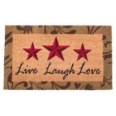 Coston Live Laugh Love Vinyl Back Coco Doormat