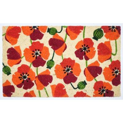 Cothern Poppy Vinyl Back Coco Doormat
