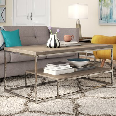Corona Coffee Table Color: Brown