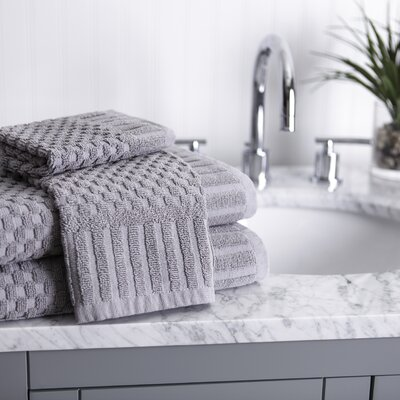 Luxe Textured 8 Piece Towel Set Color: Gray