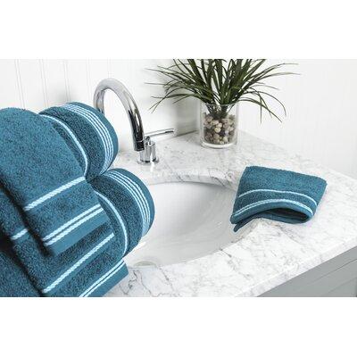 6 Piece Towel Set Color: Crystal Teal