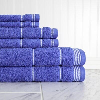 6 Piece Towel Set Color: Palace Blue