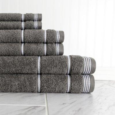6 Piece Towel Set Color: Smoke Pearl