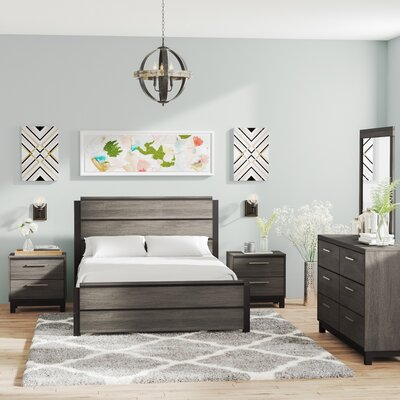 Mandy Platform 5 Piece Bedroom Set Size: Queen