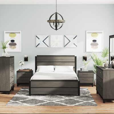 Mandy Platform 6 Piece Bedroom Set Size: Queen