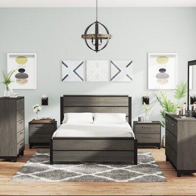 Mandy Platform 6 Piece Bedroom Set Size: King