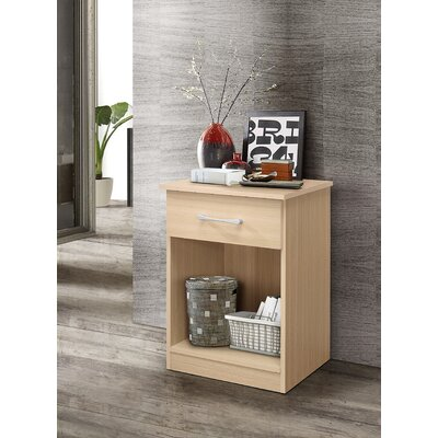 Penhook 1 Drawer Nightstand Color: Beech