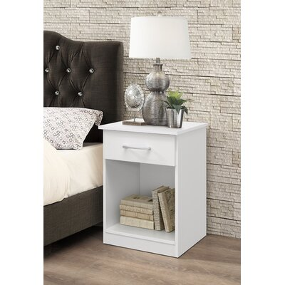 Penhook 1 Drawer Nightstand Color: White
