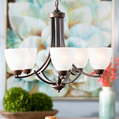 Hayden 5-Light Candle-Style Chandelier Finish: Oil Rubbed Bronze