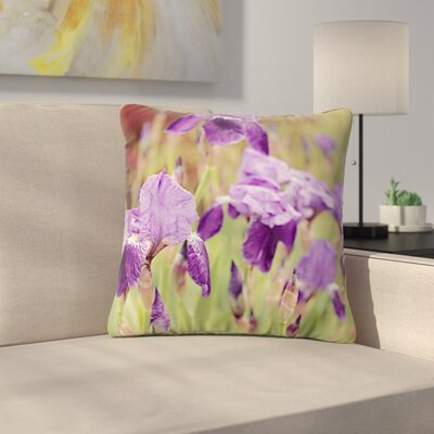 Angie Turner Irises Floral Outdoor Throw Pillow Size: 18 H x 18 W x 5 D