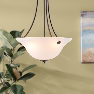 Barrett 3-Light Invert Bowl Pendant Shade Color/Finish: Marble/Oil Rubbed Bronze