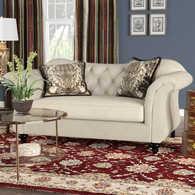 Indira Premium Tufted Upholstered Loveseat Upholstery: Taupe