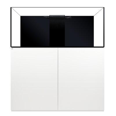 Aquarium kit Size: 34 H x 48 W x 24 D, Finish: White