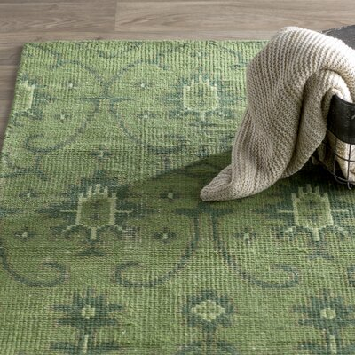 Plattville Green Area Rug Rug Size: 56 x 86