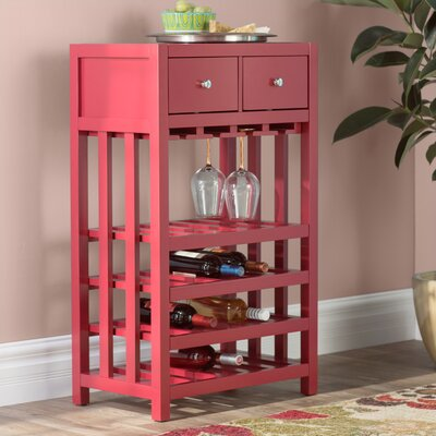 Humphries Tower 20 Bottle Floor Wine Cabinet Color: Red