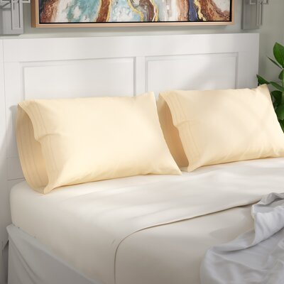 Cullen Pillowcase Size: Standard, Color: Ivory