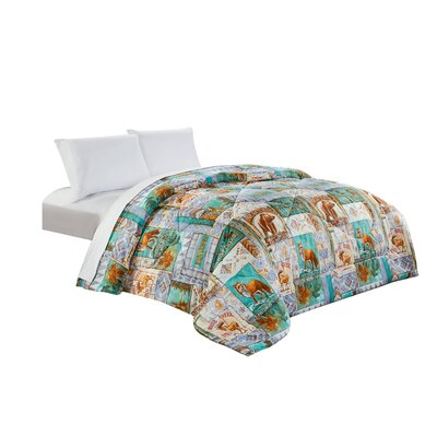 Patchwork All Season Down Comforter Size: Twin