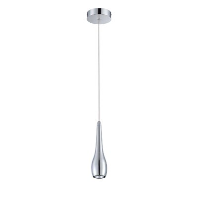 Hill 1-Light Mini Pendant Finish: Chrome