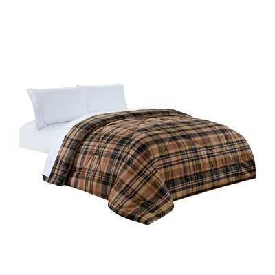 Plaid All Season Down Comforter Size: King