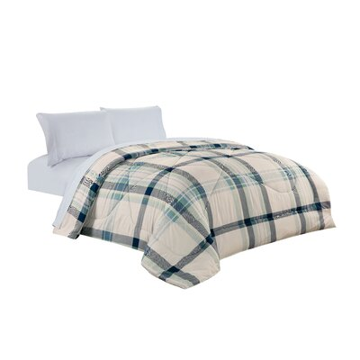 Plaid All Season Down Comforter Size: Twin