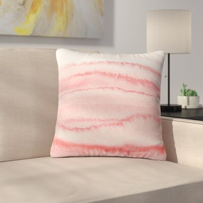 Throw Pillow Size: 16 H x 16 W x 4 D, Color: Rosequartz