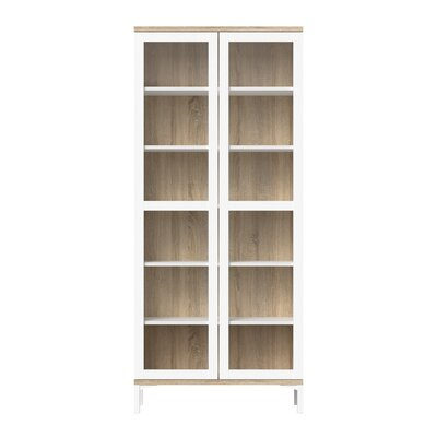 Boggess 2 Door China Cabinet Color: White/Oak Structure