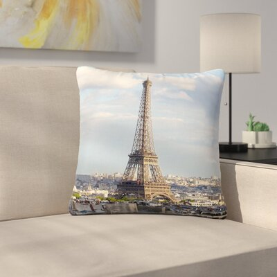 Philip Brown Eiffel Tower Outdoor Throw Pillow Size: 16 H x 16 W x 5 D