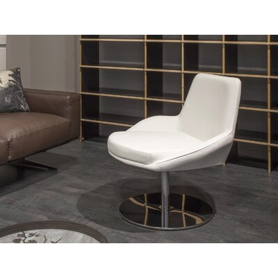 Gulledge Swivel Armchair Upholstery: White