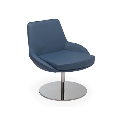 Gulledge Swivel Armchair Upholstery: Blue