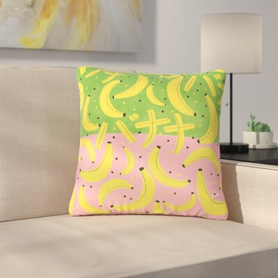 Strawberringo Banana II Outdoor Throw Pillow Size: 18 H x 18 W x 5 D