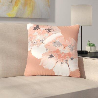 Love Midge Graphic Flower Nasturtium Floral Outdoor Throw Pillow Size: 16 H x 16 W x 5 D, Color: Pink