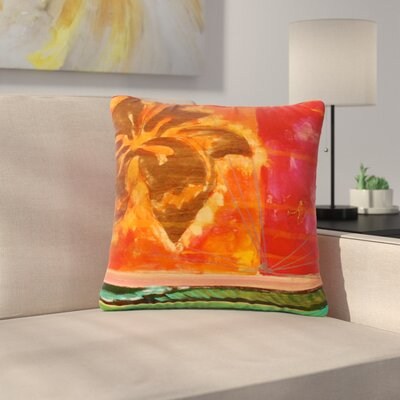 Nathan Gibbs Destination: She Surfs Floral Outdoor Throw Pillow Size: 16 H x 16 W x 5 D