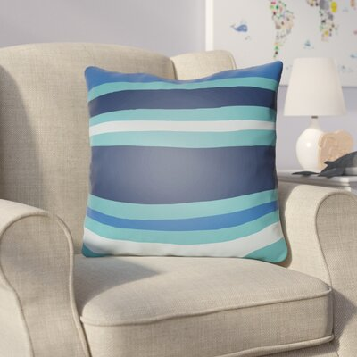 Colinda Striped Indoor Throw Pillow Size: 18 H x 18 W x 4 D, Color: Turquoise/Dark Blue