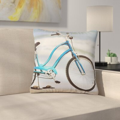 Angie Turner Beach Bike Outdoor Throw Pillow Size: 18 H x 18 W x 5 D