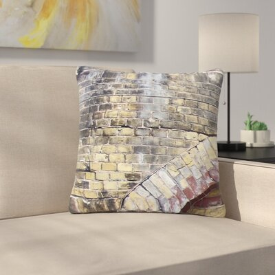 Susan Sanders Painted Grunge Brick Wall Outdoor Throw Pillow Size: 16 H x 16 W x 5 D
