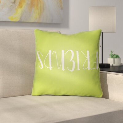 Indoor/Outdoor Throw Pillow Size: 18 H x 18 W x 4 D, Color: Green