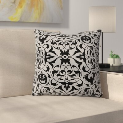 Gothique Throw Pillow Size: 26 H x 26 W x 7 D, Color: Gray/Black