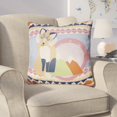 Colinda Fox Throw Pillow Size: 22 H �x 22 W x 5 D, Color: Light Blue