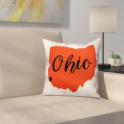 Ohio Pride Square Throw Pillow