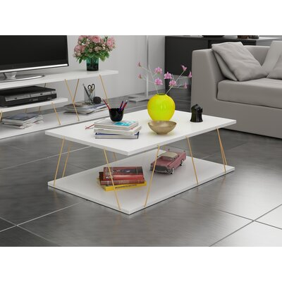 Colette Coffee Table Table Base Color: Gold