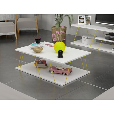 Colette Coffee Table Table Base Color: Yellow