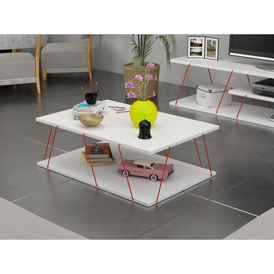 Colette Coffee Table Table Base Color: Red