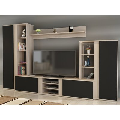 Colne 104 Entertainment Center Color: Sonomo/Black
