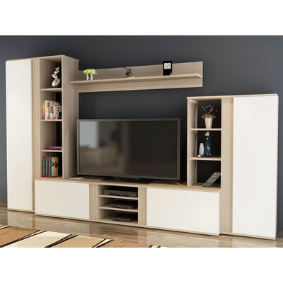 Colne 104 Entertainment Center Color: Sonomo/White