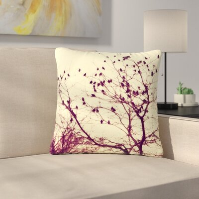 Sylvia Coomes Darkness into Light Nature Outdoor Throw Pillow Size: 16 H x 16 W x 5 D