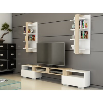 Connerton 79 Entertainment Center Color: Sonomo/White